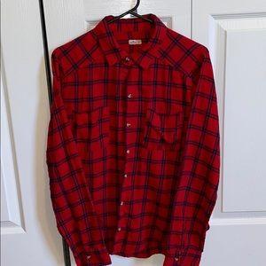 Red Plaid Hollister shirt